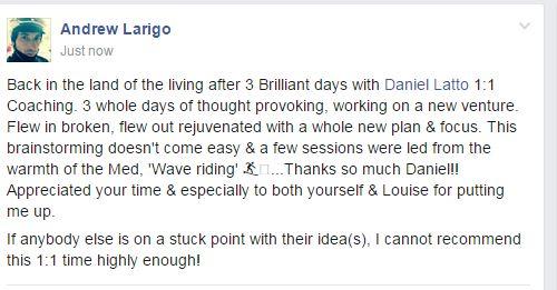 Andrew Larigo Testimonial for Daniel Latto for the 2 day Breakthrough Experience
